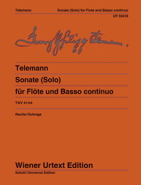 Sonata in b minor, TWV41:h4 image